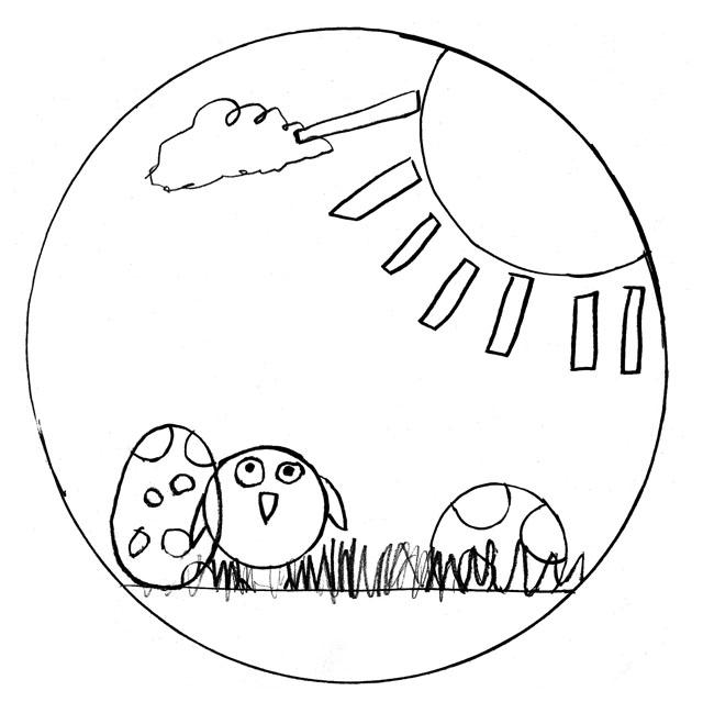 Ausmalbilder und Malvorlagen für Kinder kostenlos  - Ostern Bilder Zum Ausmalen