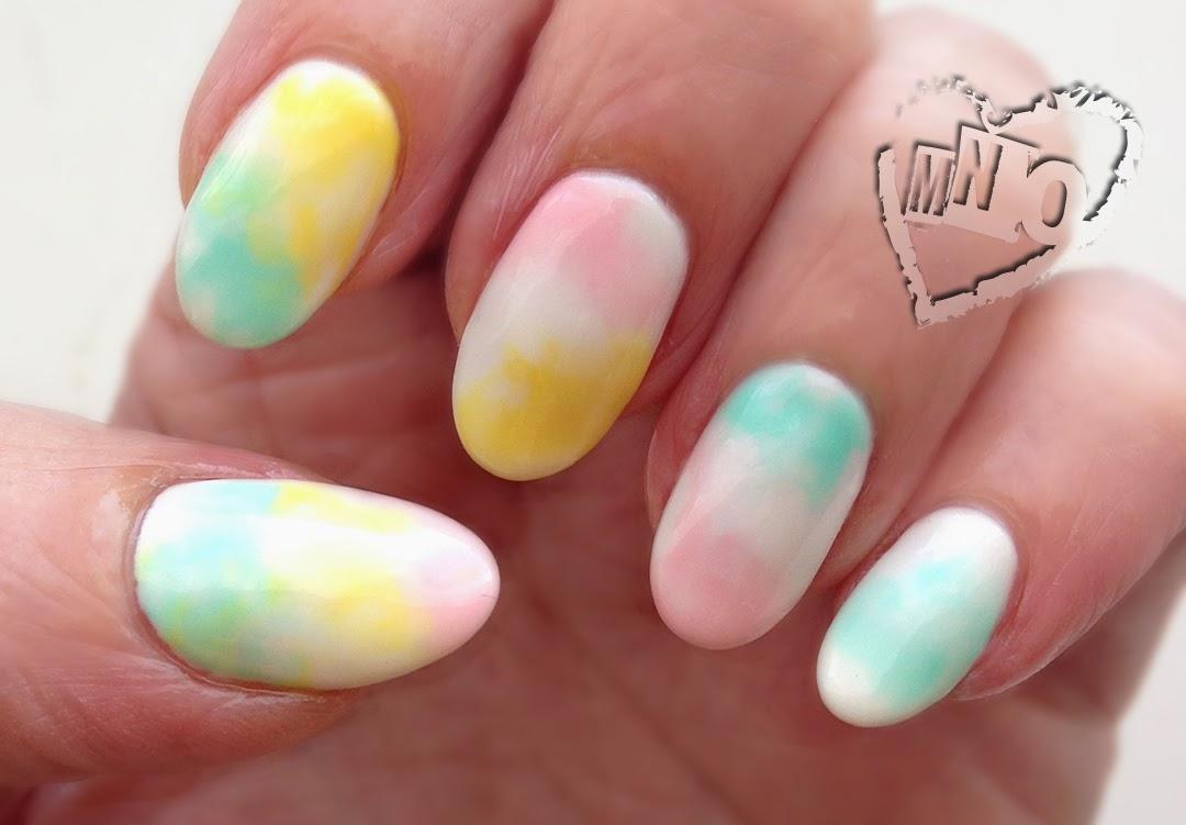 Marble Swirl Nail Design Art Easy Plastic
