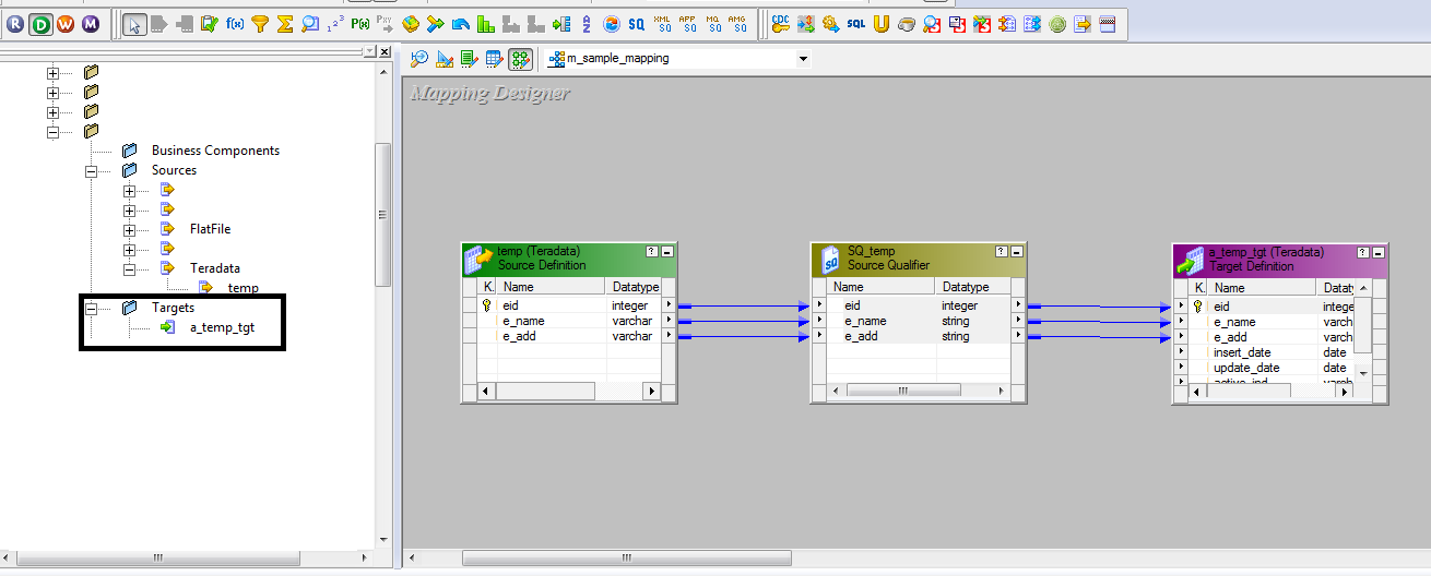 how to create mapping in informatica