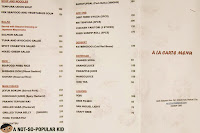 Genji-M Ala Carte Menu and Prices