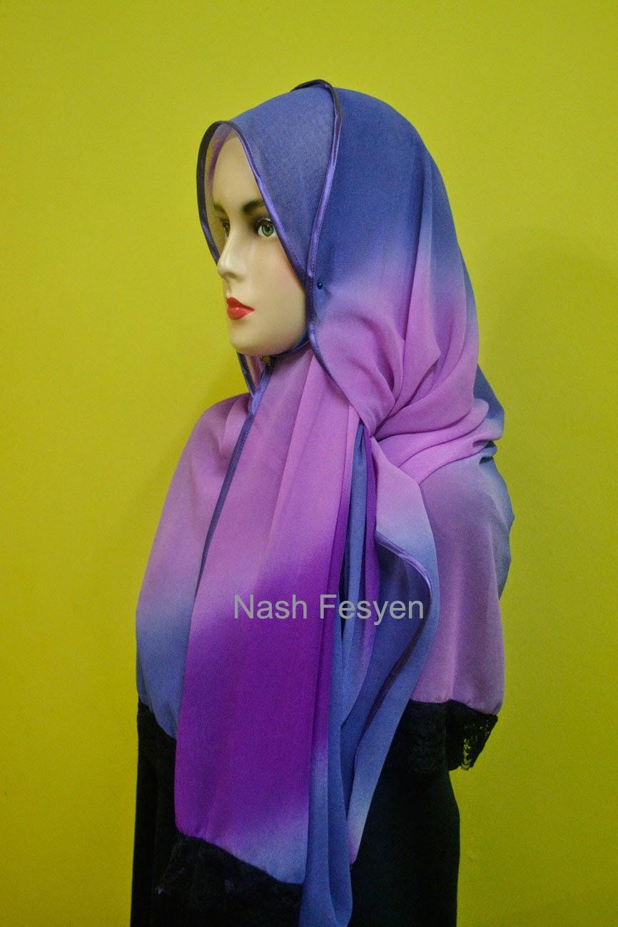 shawl dengan piping dan lace