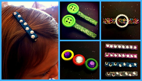 DIY Sparkly Hair Clips