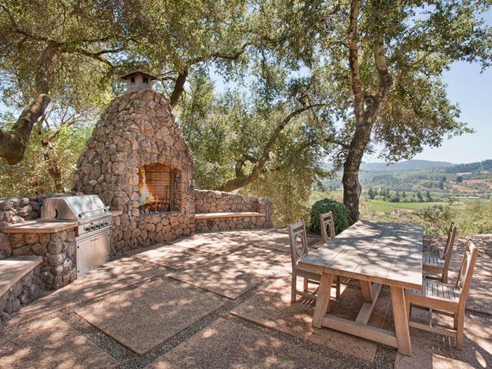 Estilo rustico patios exteriores rusticos mobiliario y for Casas para patios exteriores