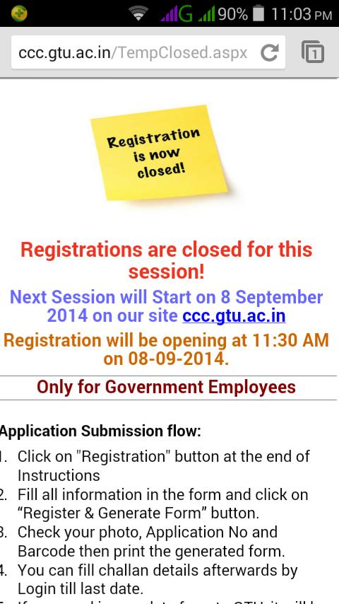 Ccc Online Registration Starton 8 9 2014 Mihirkumar
