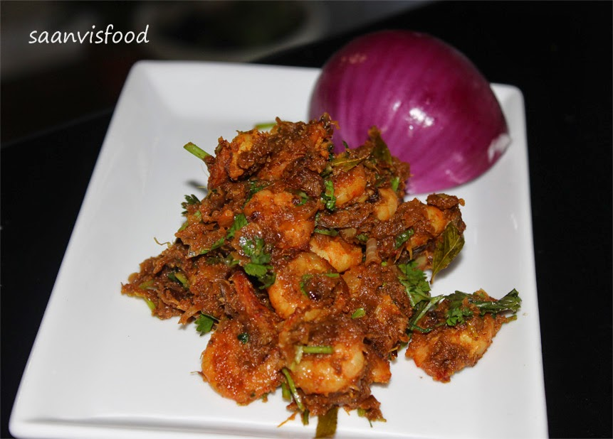 Shrimp Fry / Andhra Royyala Vepudu