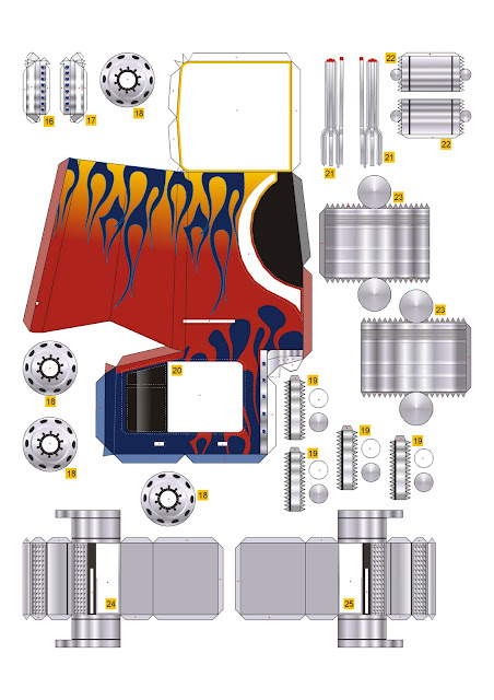 Geek S Republic Optimus Prime Vehicle Mode By Paper Replika
