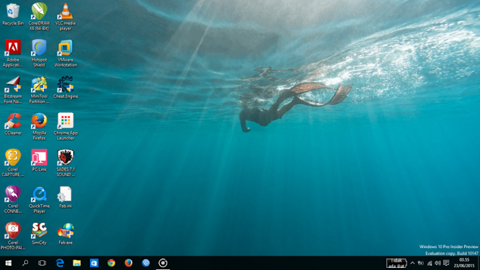 Desktop dan Wallpaper baru Windows 10