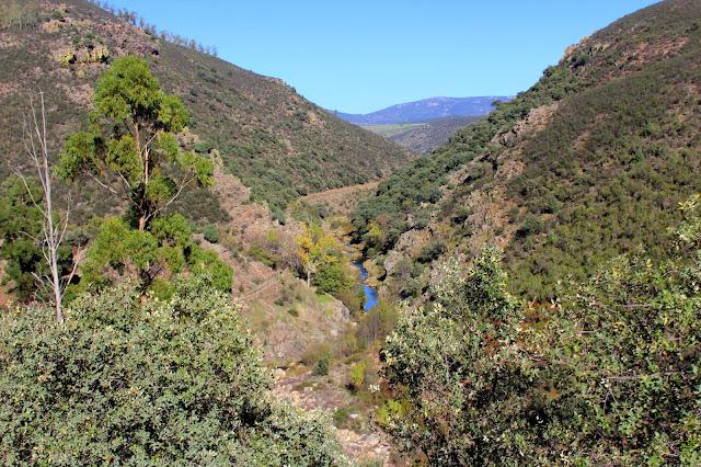 Canal de las Herrerías por la ladera de la garganta, sobre el arroyo de Torneros