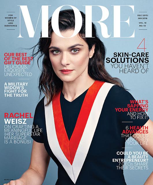 Actress, Fashion Model @ Rachel Weisz - MORE Magazine December 2015