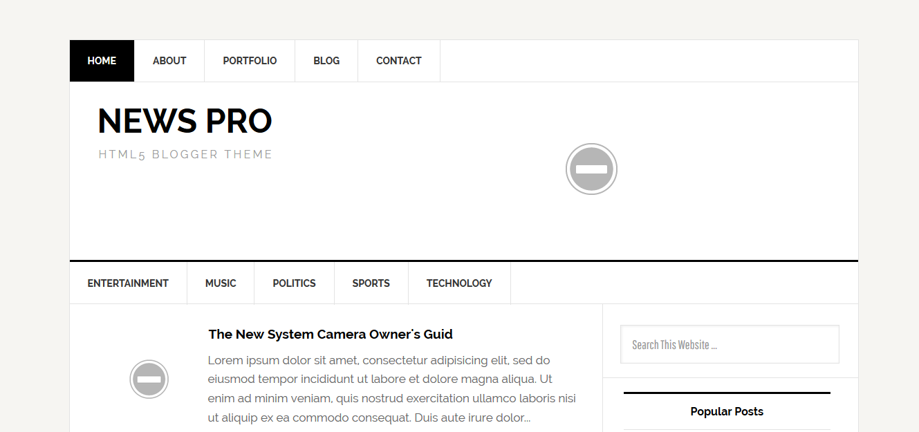 Pro Photo Blog Templates. top 10 seo optimized fast loading ...