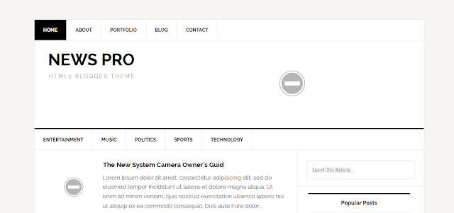 News Pro Responsive Blogger Template Free Download