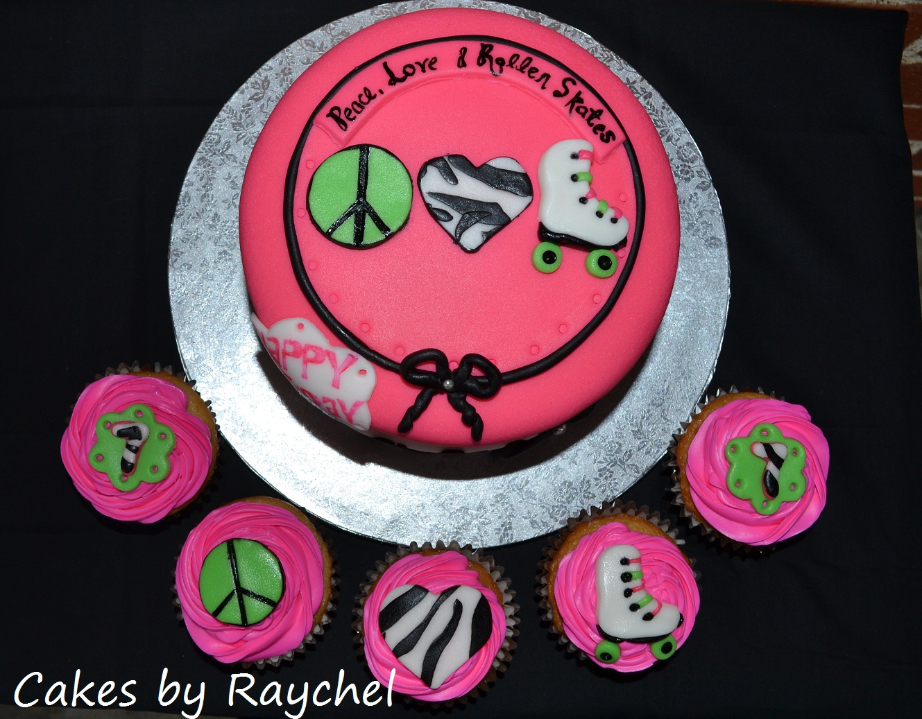 Roller skating cupcakes roller skate party cake