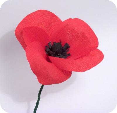 Crepe Paper Poppies Crafts