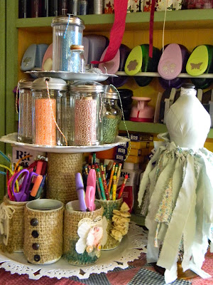 recycled storage for crafts