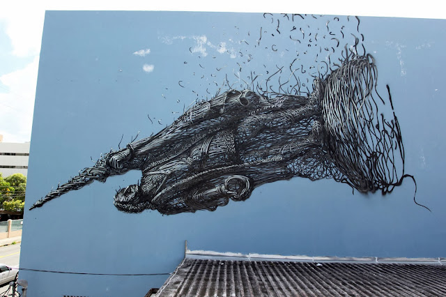 Street Art By Chinese Artist DALeast For Los Muros Hablan '13 In Puerto Rico. 1