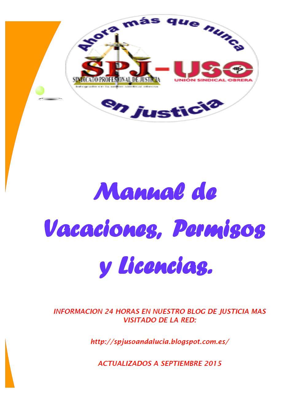 Manual Vacaciones, Permisos y Licencias actualizado 2015.