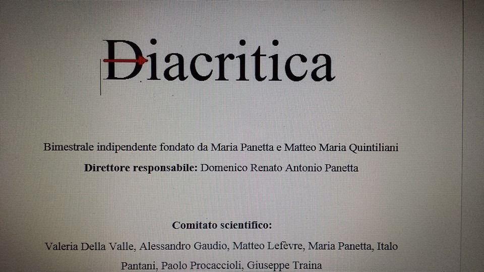 ░ Diacritica  | online il numero 11