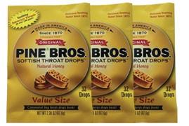 Amostra Gratis Pastilhas para dores de garganta Pine Bross
