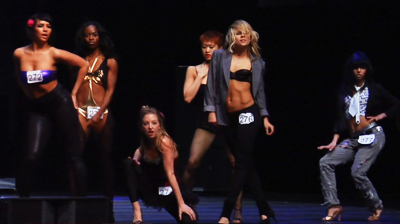 Michael Jackson's – This is it - Girls strike a pose at the end of auditions.