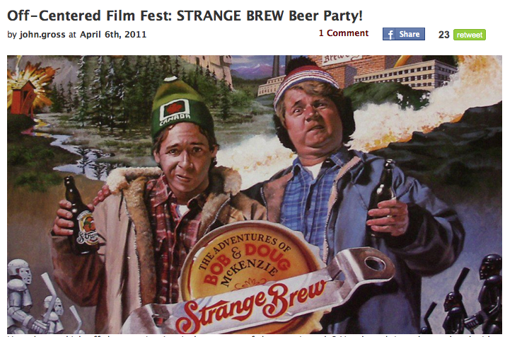 Strange Brew Movie Beer Brand Strange Brew Beer Party