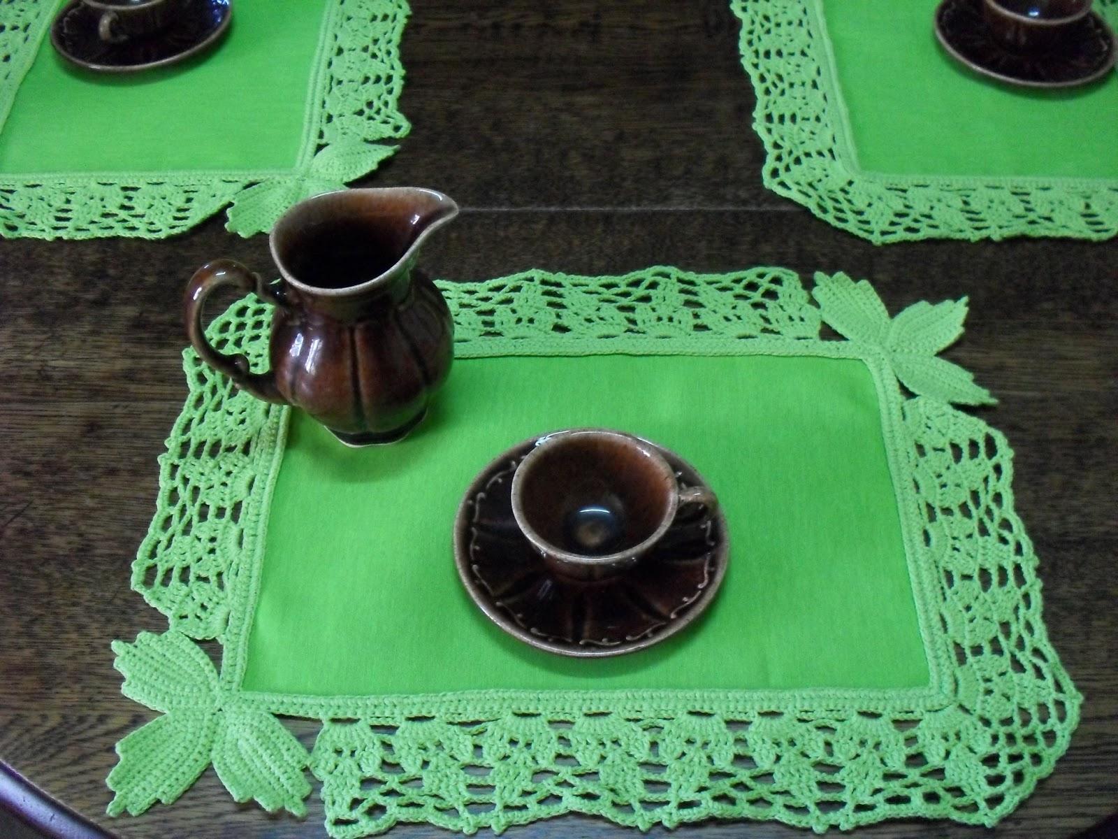 Vivicrochet visillos caminos de mesa carpetas manteles accesorios para decoracion - Individuales para mesa ...