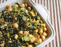 Ensopado de Folhas e Talos de Brócolis com Grão-de-Bico (vegana)