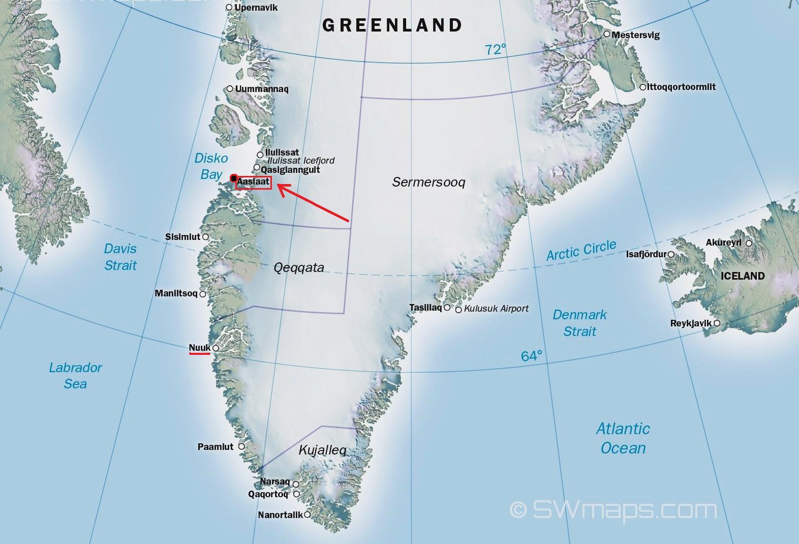 Ultima Thule Aasiaat Greenland - Greenland latitude