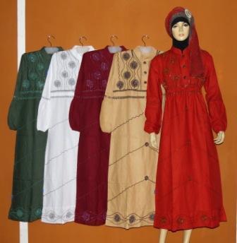 Gamis Katun Tanah Abang Gk2235 Grosir Baju Muslim Murah