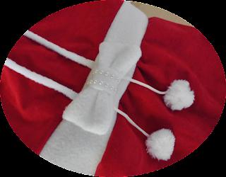 detalle vestido navidad para perro