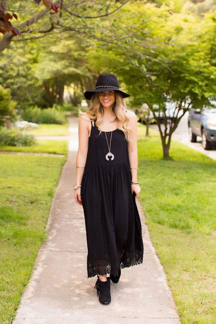 Crochet Trim Eyelet Boho Dress
