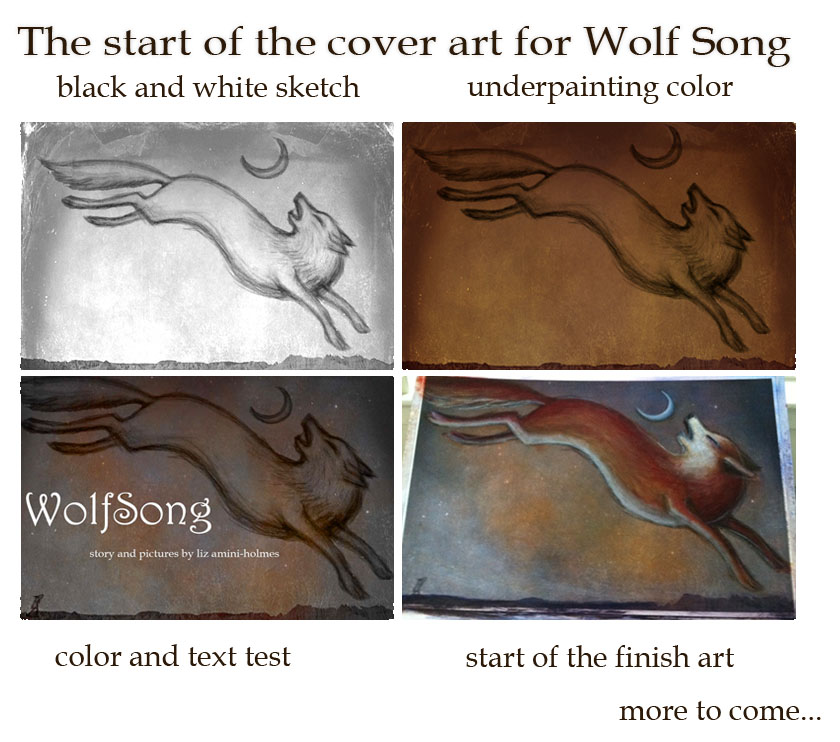 Book Cover Making Process : Lunavilla process of making wolf song book cover