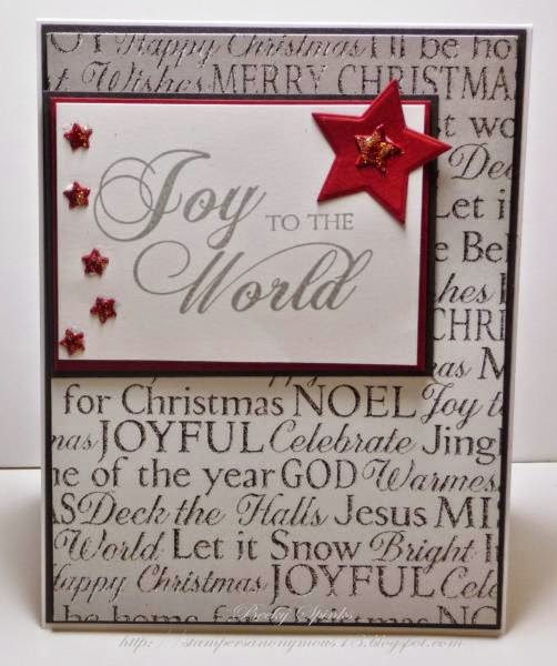 ODBD Winter Paper Collection, ODBD Luke 2:11, ODBD Custom Sparkling Stars Dies, ODBD Customer Card of the Day by Becky Spinks