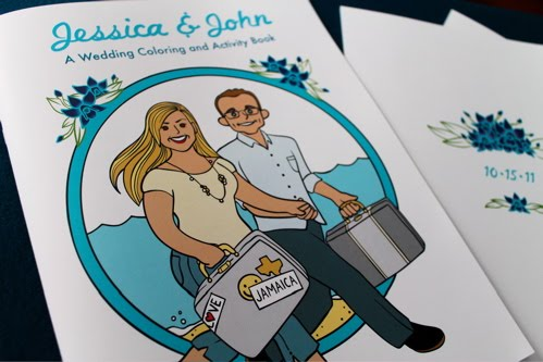 Alicia Policia Jessica John S Jamaican Wedding Custom Coloring Book