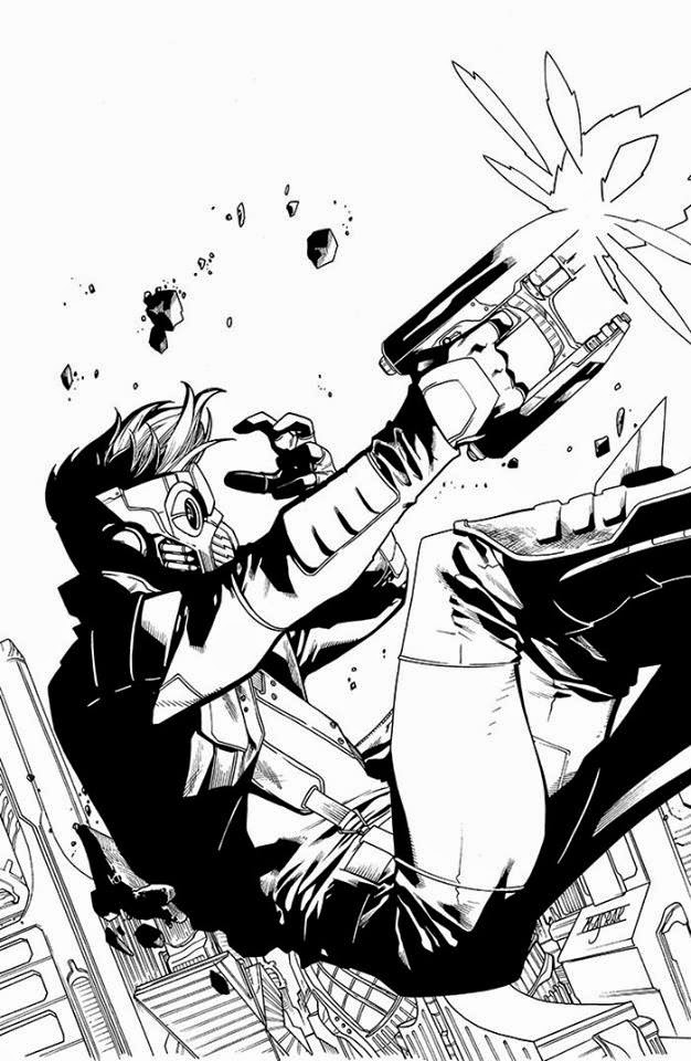 fashion  action legendary star lord issue  comic cover artmostly