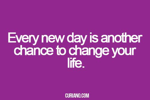 great wisdom, worth to accept is: Every new day is another chance to change your life. on Radiant Orchid color card