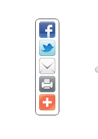 Floating Vertical Bar With Share Buttons Widget For Blogger