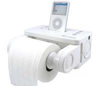 Porta papel higienico + altavoces para Ipod