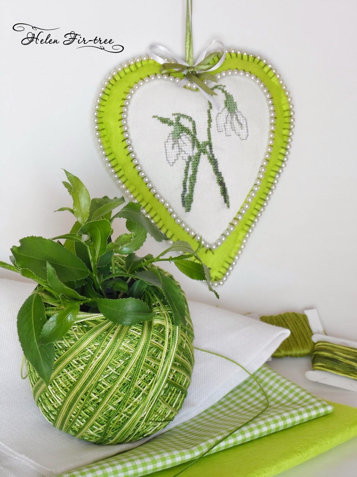 Helen Fir-tree вышивка игольница первоцветы embroidery needle bar primroses