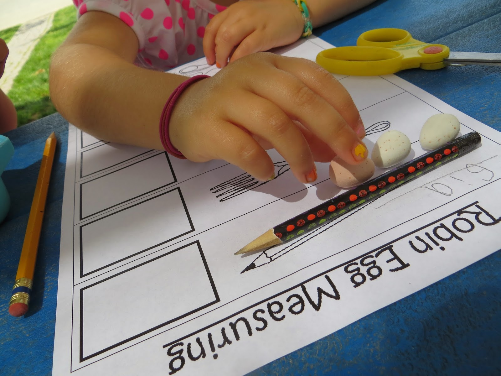 Preschool Easter measuring worksheet