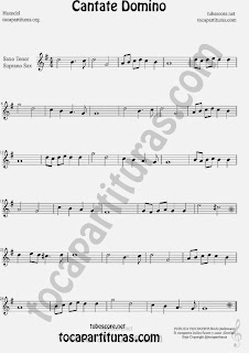 Cantate Domino Partitura de Saxofón Soprano y Saxo Tenor Sheet Music for Soprano Sax and Tenor Saxophone Music Scores