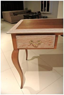 biurko,stare biurko,Vintage,bielone drewno,jak odnowić mebel,DIY