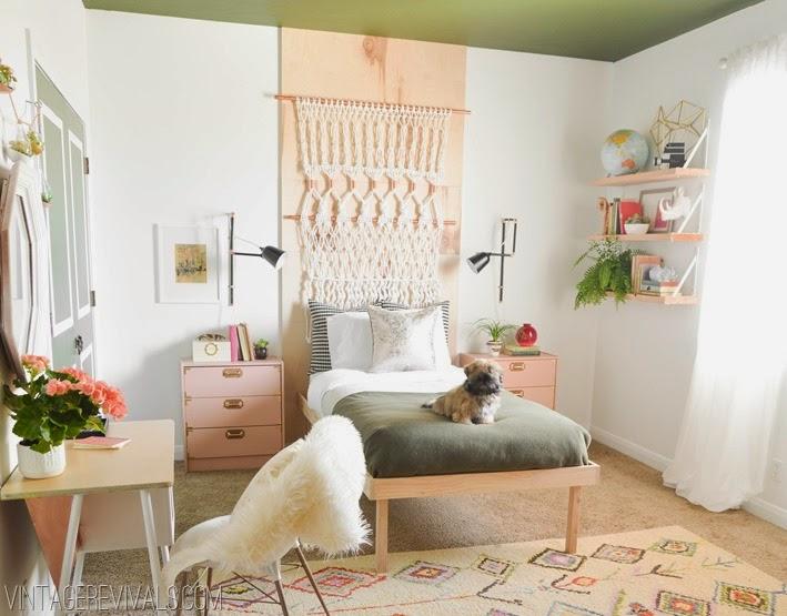 Decoraci n f cil un dormitorio retro chic con cabecero de - Cabeceros con fotos ...