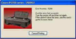 mengatasi Error B5B00 Printer Canon IP 2770