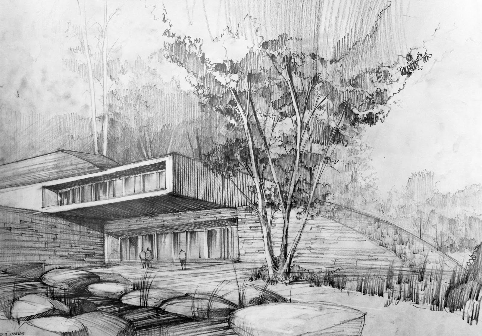 Modern architecture sketches artur st pniak gallery for Home architecture facebook