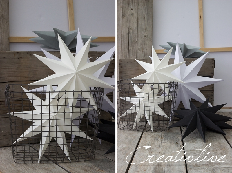 diy papiersterne und weihnachtlicher blumenstrau creativlive. Black Bedroom Furniture Sets. Home Design Ideas