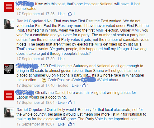 I explain why winning an electorate seat off National won't change the allocation of seats in Parliament
