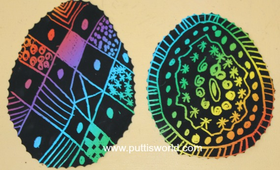 Easter Scratch Art Craft Kids