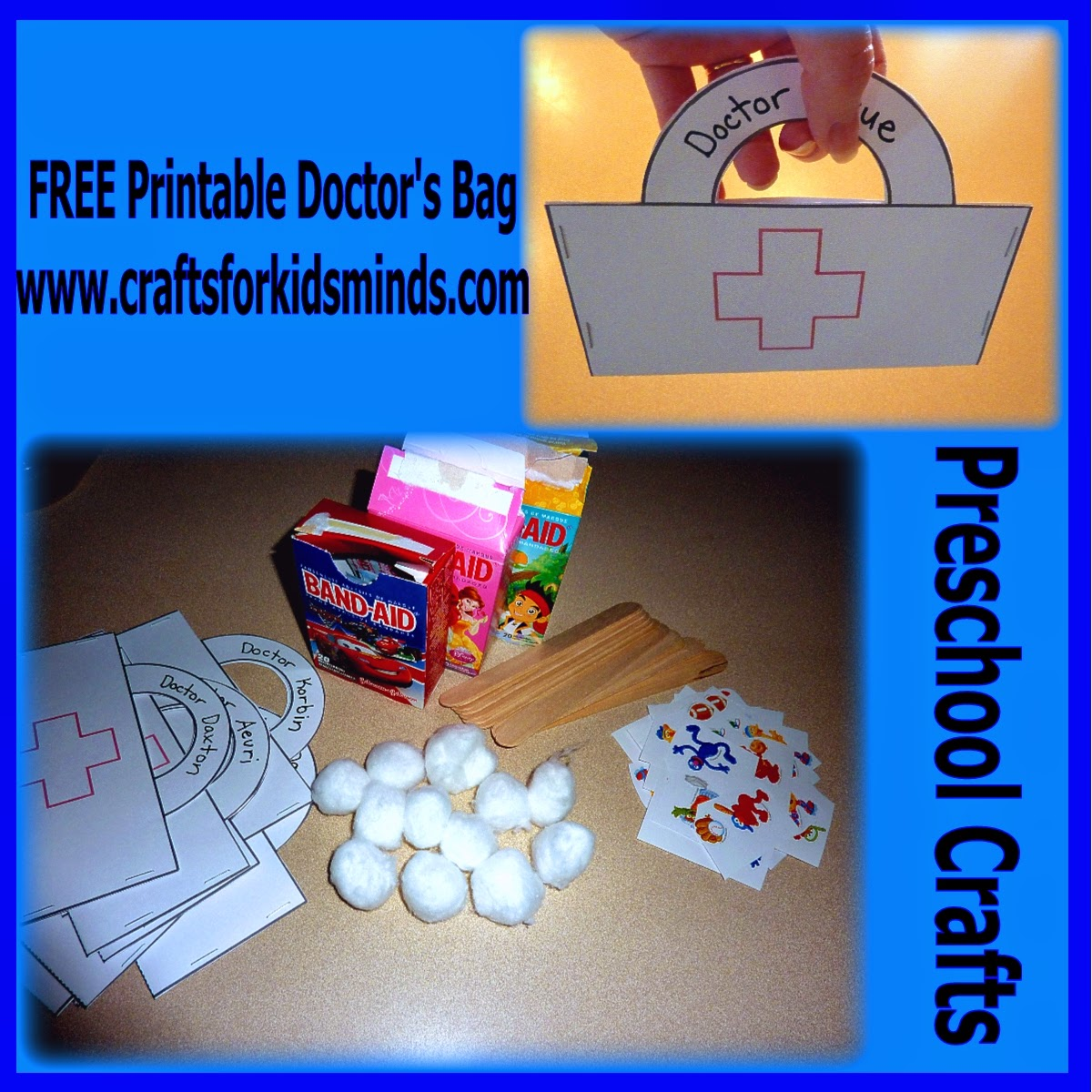 Crafts for kids 39 minds free printable preschool doctor for Doctor crafts for toddlers
