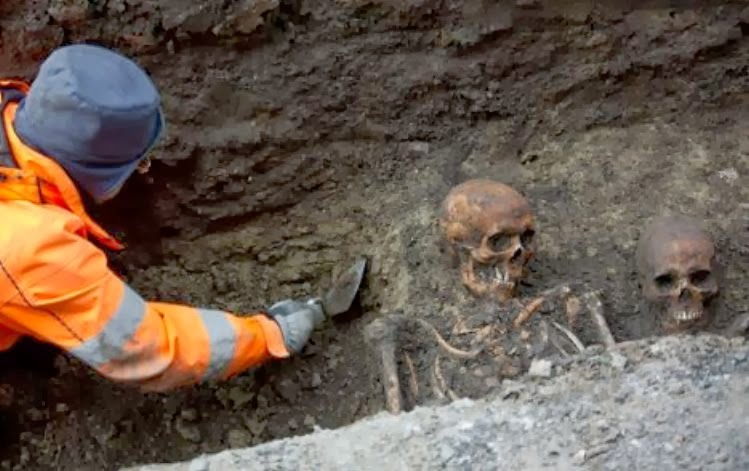Twenty skeletons discovered under Swedish street