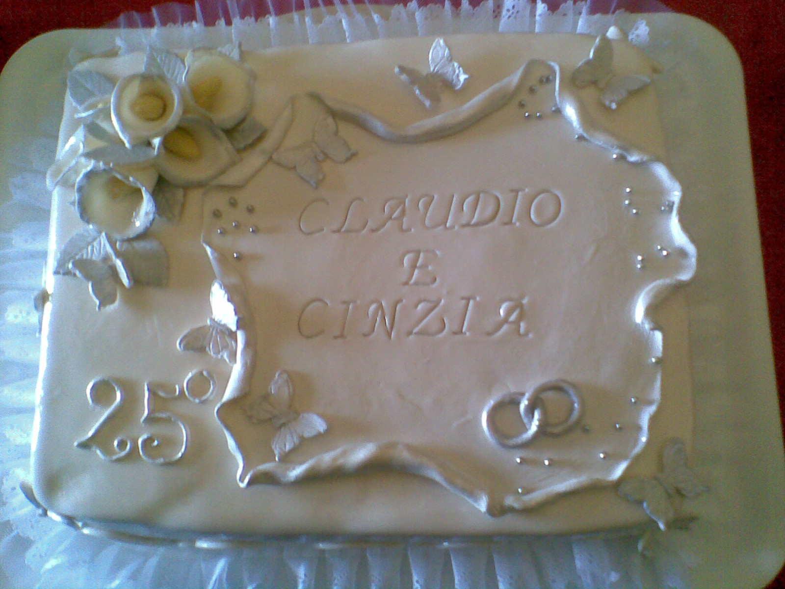 I dolci doni di natascia torta anniversario matrimonio 25 for Decorazioni torte per 60 anni di matrimonio